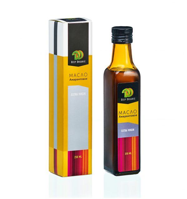 Амарантовое масло в стекле с упаковкой