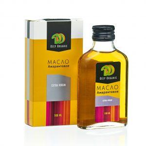 Амарантовое масло с упаковкой