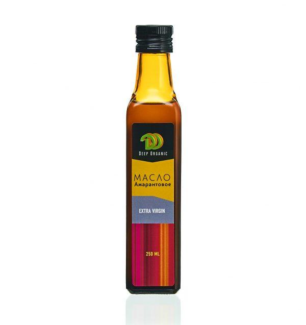 Амарантовое масло в стеклянной бутылке