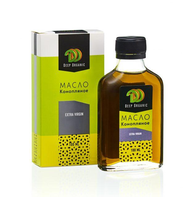 Конопляное масло с упаковкой