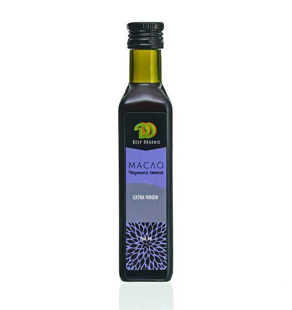 Масло черного тмина в стеклянной бутылке