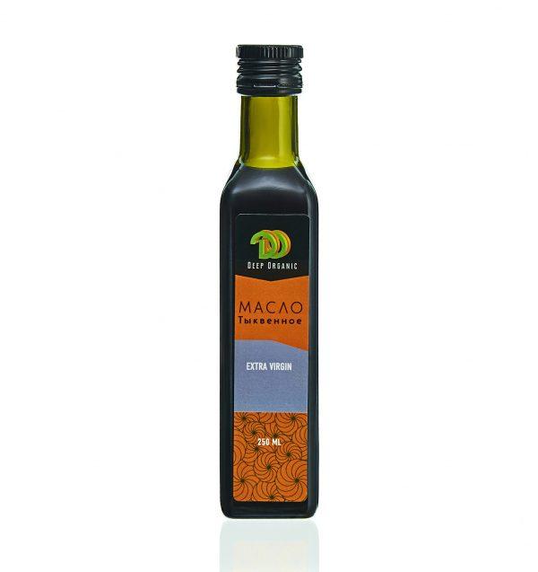 Тыквенное масло в стеклянной бутылке