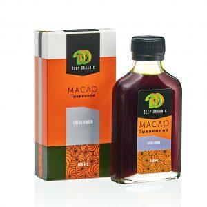 Тыквенное масло в бутылочке с упаковокой