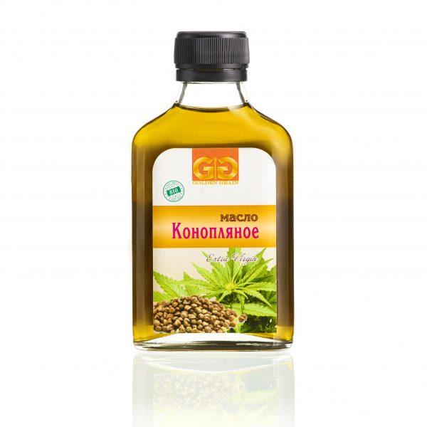 Конопляное масло в бутылочке