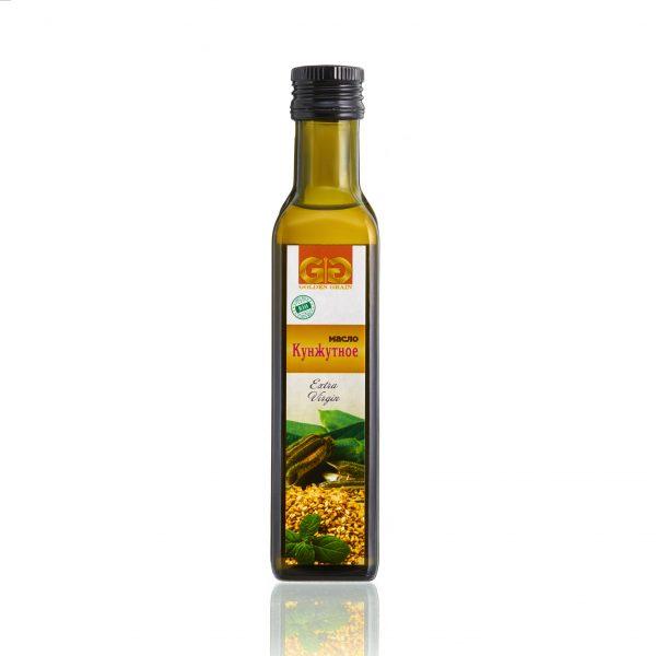 Кунжутное масло в стеклянной бутылке