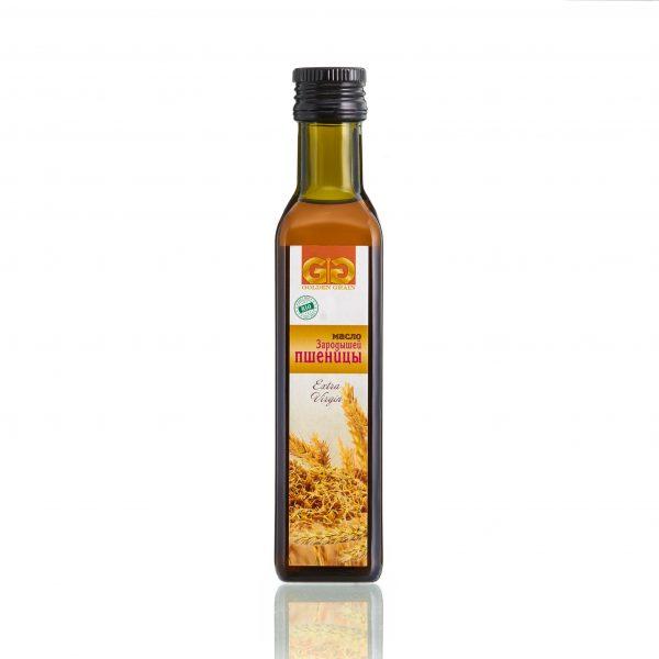 Масло зародышей пшеницы в стеклянной бутылке
