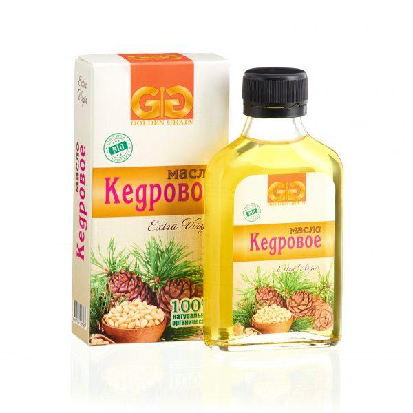 Кедровое масло в бутылочке с упаковкой