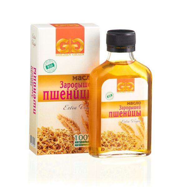 Масло зародышей пшеницы в бутылочке с упаковкой