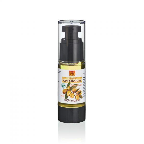 Аргановое масло в специальном флаконе-дозаторе